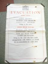 BRITISH WW2 EVACUATION POSTER